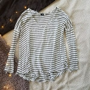 Urban Outfitters Frayed Hem Striped Sweater Size S